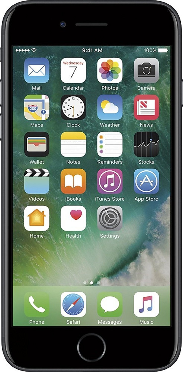 Apple iPhone 7 , T-Mobile, 32GB - Black (Certified Refurbished) by Apple (Image #1)
