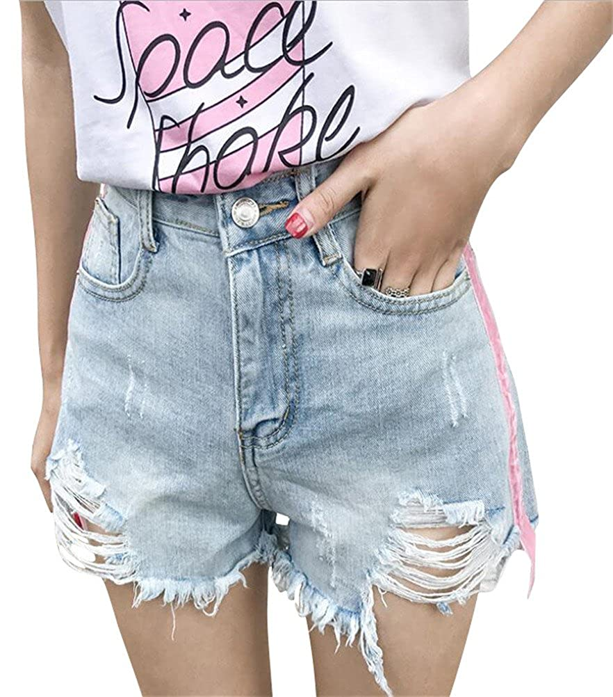loose fitting jean shorts