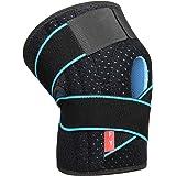 Rodillera Menisco Ligamento Deportiva Ajustable Protector de Rótula Abierta Rotuliana Antideslizante Neopreno Compresión Estabilizadora para Correr Crossfit