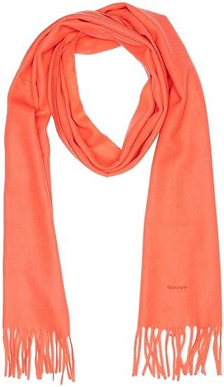 d0c7af989aa6 Gant Solid Lambswool Woven Scarf, Echarpe Femme, (Atomic Orange), Taille  Unique  Amazon.fr  Vêtements et accessoires