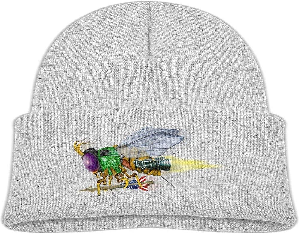 Fzjy wnx Scary Bee Wool Beanie Hat Warm Unisex 0-3 Old