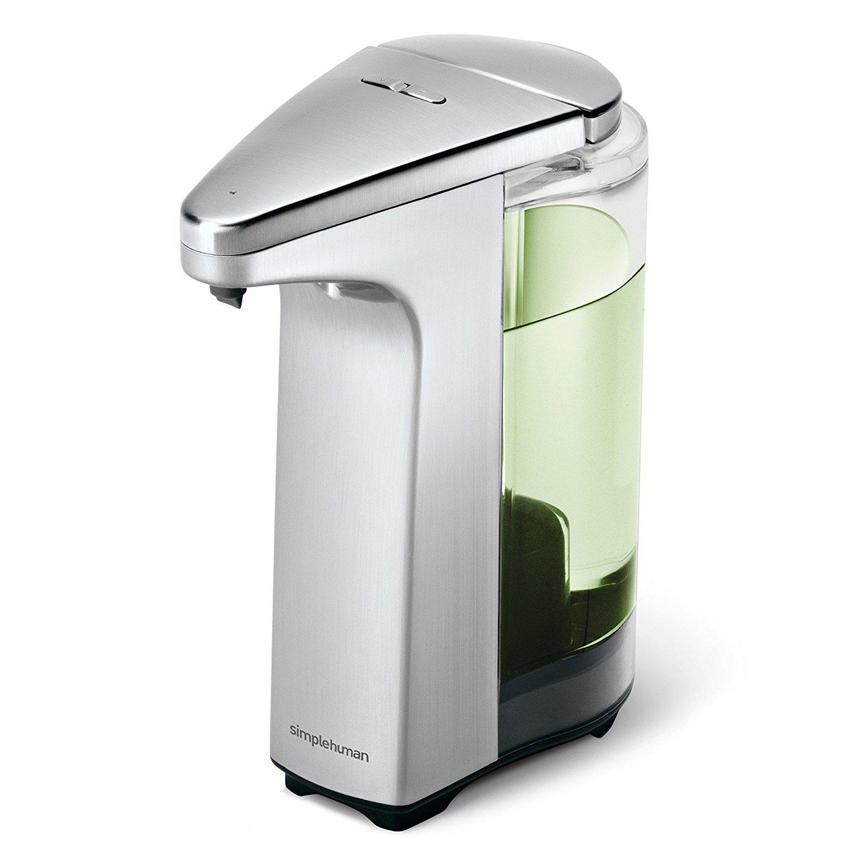 sensor pump with soap sample brushed nickel