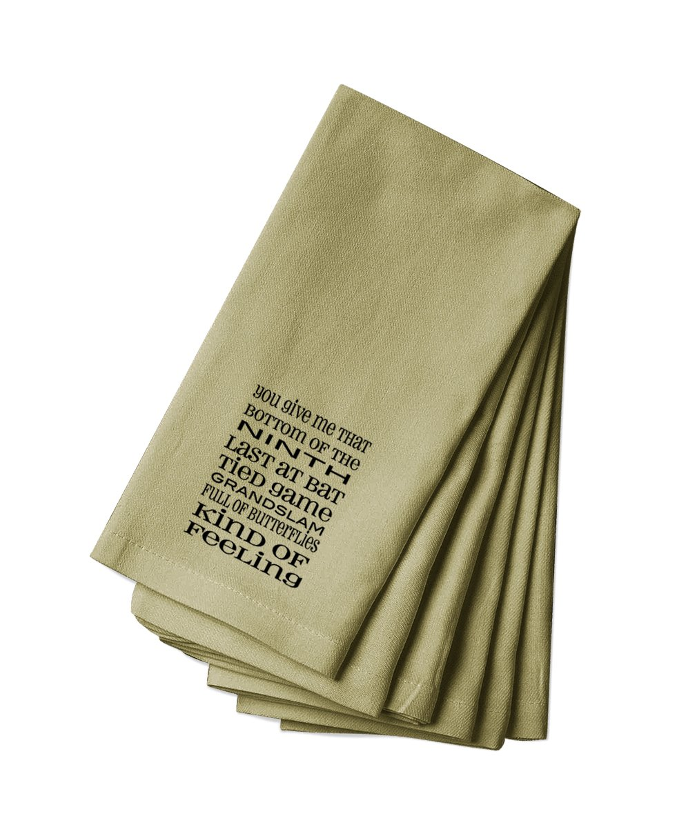 Style in Print Canvas Napkin Set Of 4 You Give Me That Bottom Last Bat Tied Game Grandslam