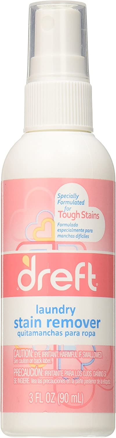Dreft Laundry Stain Remover Spray, Travel Size, 3 Fluid Ounce