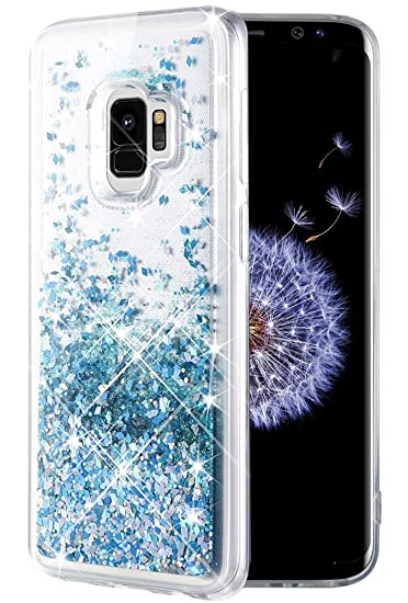factory price 932ef e13f7 Caka Galaxy S9 Case, Galaxy S9 Glitter Case Liquid Series Luxury Fashion  Bling Flowing Liquid Floating Sparkle Glitter Soft TPU Case for Samsung ...