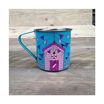 Casetas de playa Camping tazas, tazas de niños, al aire libre tazas, tazas de café: Amazon.es: Hogar