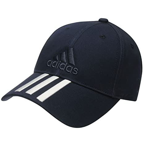 adidas Azul Marino Junior niños Ajustable Iconic 3 Rayas Bordado ...