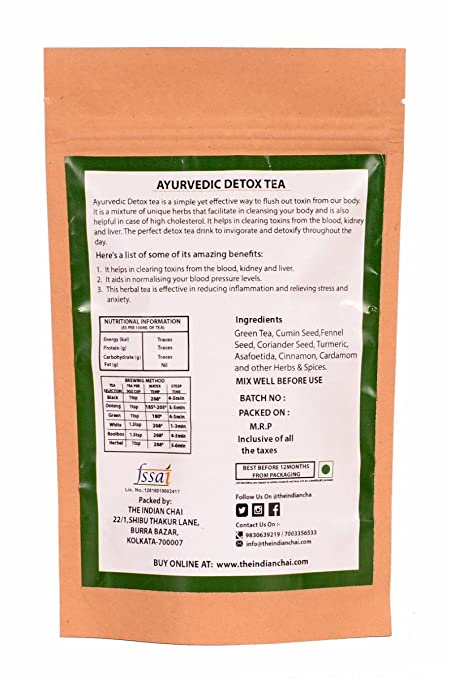 The Indian Chai Ayurvedic Detox Tea, 100g