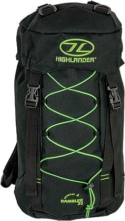 Highlander Rambler Rucksack ― Small, Medium & Large Unisex Backpacks for  Men & Women Hiking, Rambling, Backpacking, Trekking ― Black Water Resistant  & Breathable Bag: Amazon.co.uk: Clothing