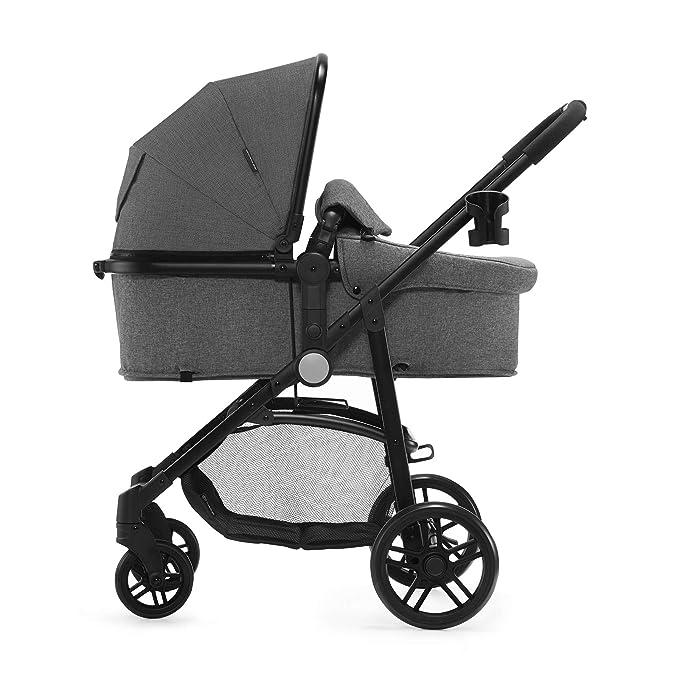Kinderkraft Silla de paseo de bebe JULI 3en1 Trio Cochecito 3 piezas capazo silla de coche incluida plegado 3 posiciones del asiento con accesorios ...