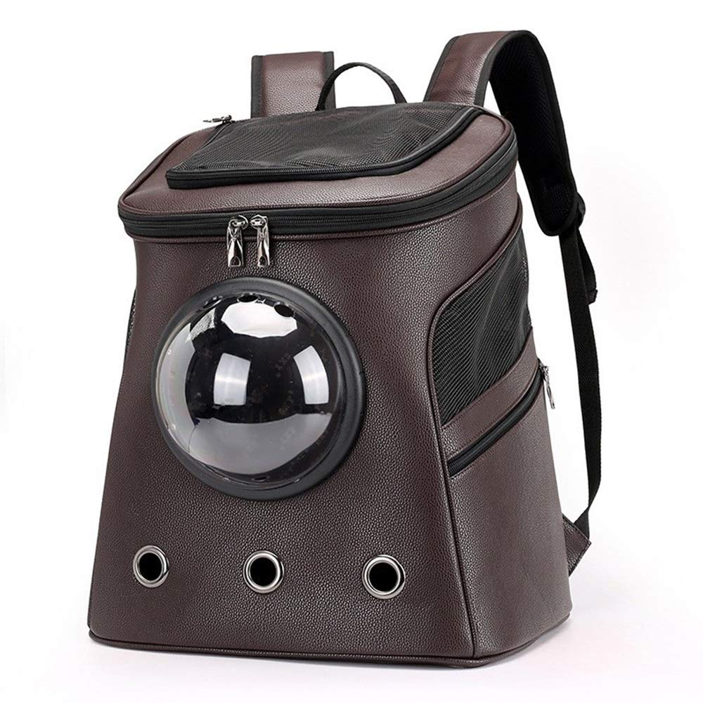 Brown Philip Peacoc Large pet bag out portable shoulder breathable space bag (color   Yellow)