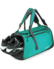 G4Free 35L Lightweight Sports Gym Bag Travel Duffle Backpack Weekend Bag Shoes Compartment