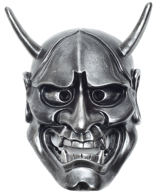 StyleCos 般若 はんにゃ お面 仮面 飾り インテリア 壁掛け 日本 伝統 大サイズ (銀) B016D8WRE4 銀 銀