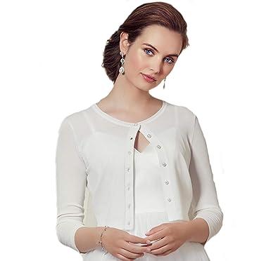 Chaqueta para novia Cardigan 09-783-CR chaqueta punta jersey ...