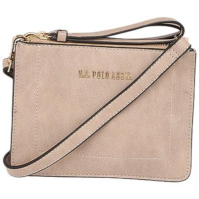 U.S. Polo Assn. Womens Zipper Closure Sling Bag Pink  Amazon.in ... e6df3b76cd