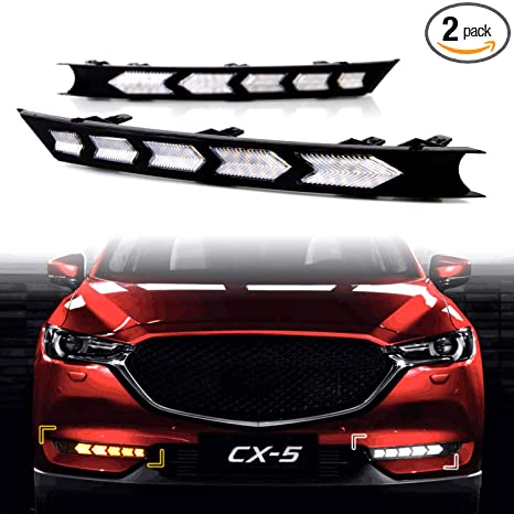 2017 Mazda Cx 5 Colors >> Ke Ke Arrow Full Led White Drl Daytime Running Light Amber Dynamic Sequential Turn Signal For 2017 2018 2019 Mazda Cx 5 Cx5 Accessories