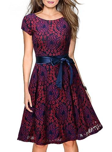Miusol Damen Kleid für Hochzeitsgäste