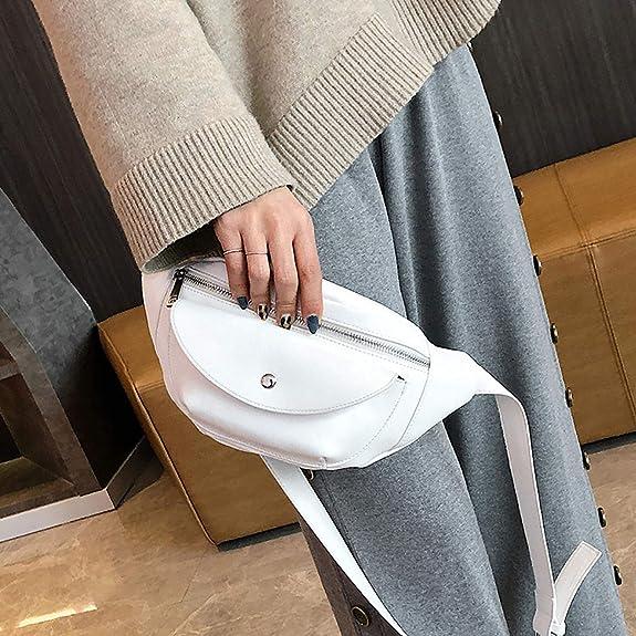 Amazon.com: women chest bag Leather Small Simple Pocket Bag ...