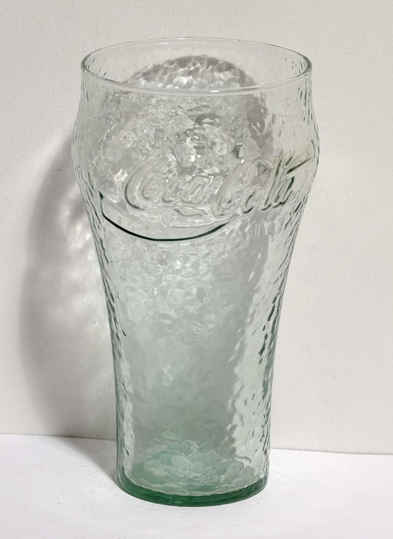 Excellent Condition COCA COLA Green Tinted Pebble Glasses 16 oz