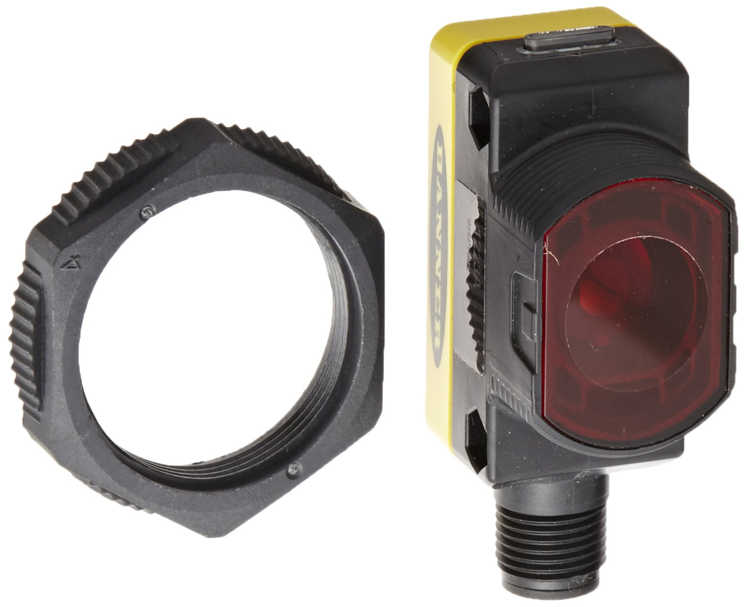 Banner QS30EQ World Beam Universal Emitter, Opposed Sensing Mode, 5-pin Integral Euro-Style QD Connection, Infrared LED, 10-30 VDC Supply Voltage, 60 m Sensing Range
