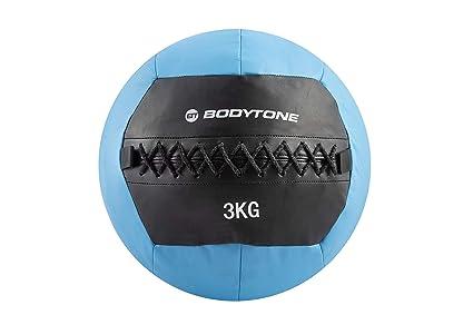 BT BODYTONE Soft Wall Ball de 3kg. Balón Medicinal de Color Azul ...