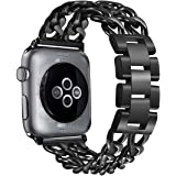 Secbolt Stainless Steel Bands Compatible Apple Watch 38mm 40mm iWatch Series 4, Series 3, Series 2, Series 1, Sport, Edition, Chain Replacement Strap Wristband