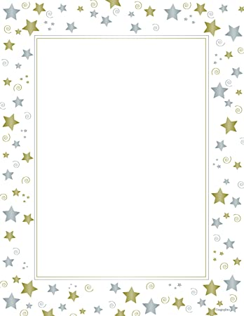 Amazon.com : Stars & Swirls Design Paper, Letter Size, White, 40 ...