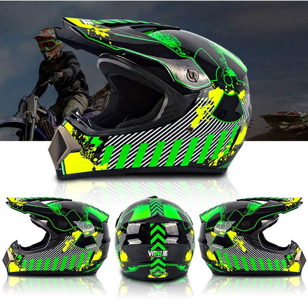 LEENY Motocross Casco de Moto con Gafas Guantes M/áscara Adulto Cascos de Cross Motos Deportivas Off-Road DH Enduro Casco ATV MTB BMX Quad Cascos de Motocicleta para Hombres Mujeres