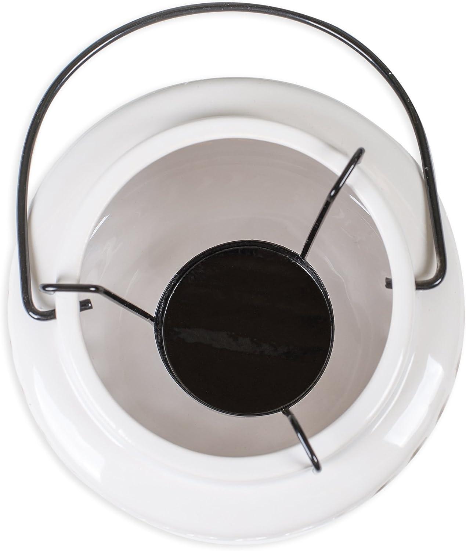 Drew Derose 5 inch Metal Tealight Hanging Nautical Ceramic Lantern White Anchor