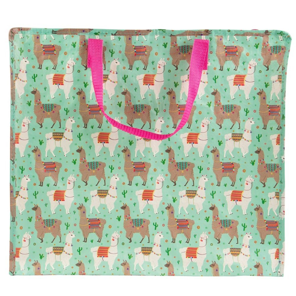 Llama Pink Storage Bag Zip Laundry Large Shopping Home Kids Room Fun Gift Toy