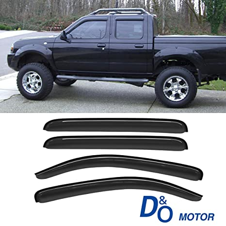 Out Channel Visors Wind Deflector Light Tint For Nissan Xterra 05-16 4pcs