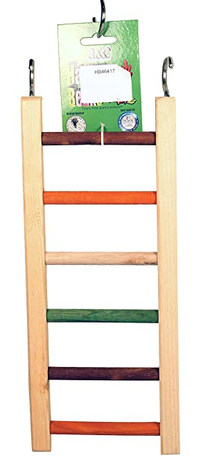 Ae Cage Company Hb46417 Happy Beaks Wooden Hanging Ladder 14