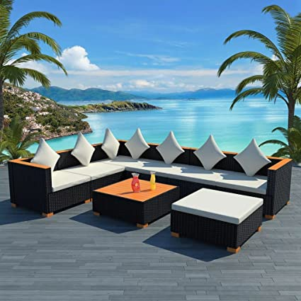Mobilier de jardin 22 pcs Dimensions du coussin de canapé d ...