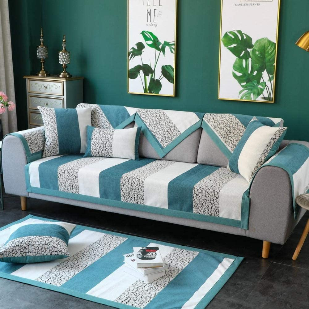 Suuki cubresofa,Protector Sofas rinconeras,Funda de sofá Moderna para sofá de Cuero,Protector de sofá de Tela de Esquina Antideslizante,Fundas de sofá universales-C_90 * 240cm-Vendido por Pieza