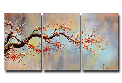 Amazon artland modern hand painted flower oil painting