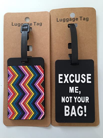 71a2bae93eef Amazon.com : Travel Suitcase Luggage Tag Set of 2 Luggage Tags ...