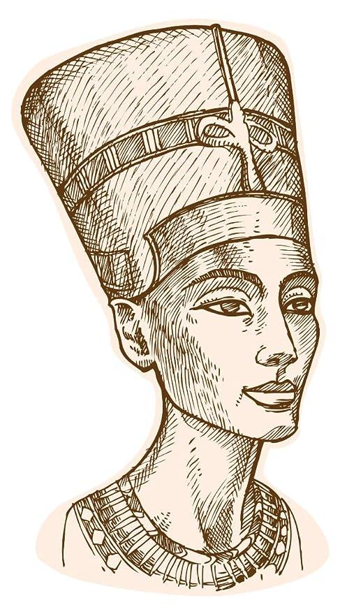 dekodino® Pegatina de pared dibujos de Africa nefertiti deco ...
