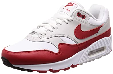 on sale 3dbc5 b4007 Nike Air Max 90 1 White University Red AJ7695 100 (6 D(