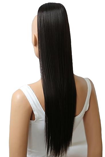 Prettyshop 60cm Haarteil Zopf Pferdeschwanz Glatt Haarverlängerung