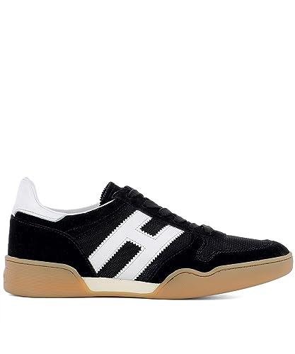 Hogan Hombre HXM3570AC40IPJ0002 Negro Tela Zapatillas: Amazon.es: Zapatos y complementos