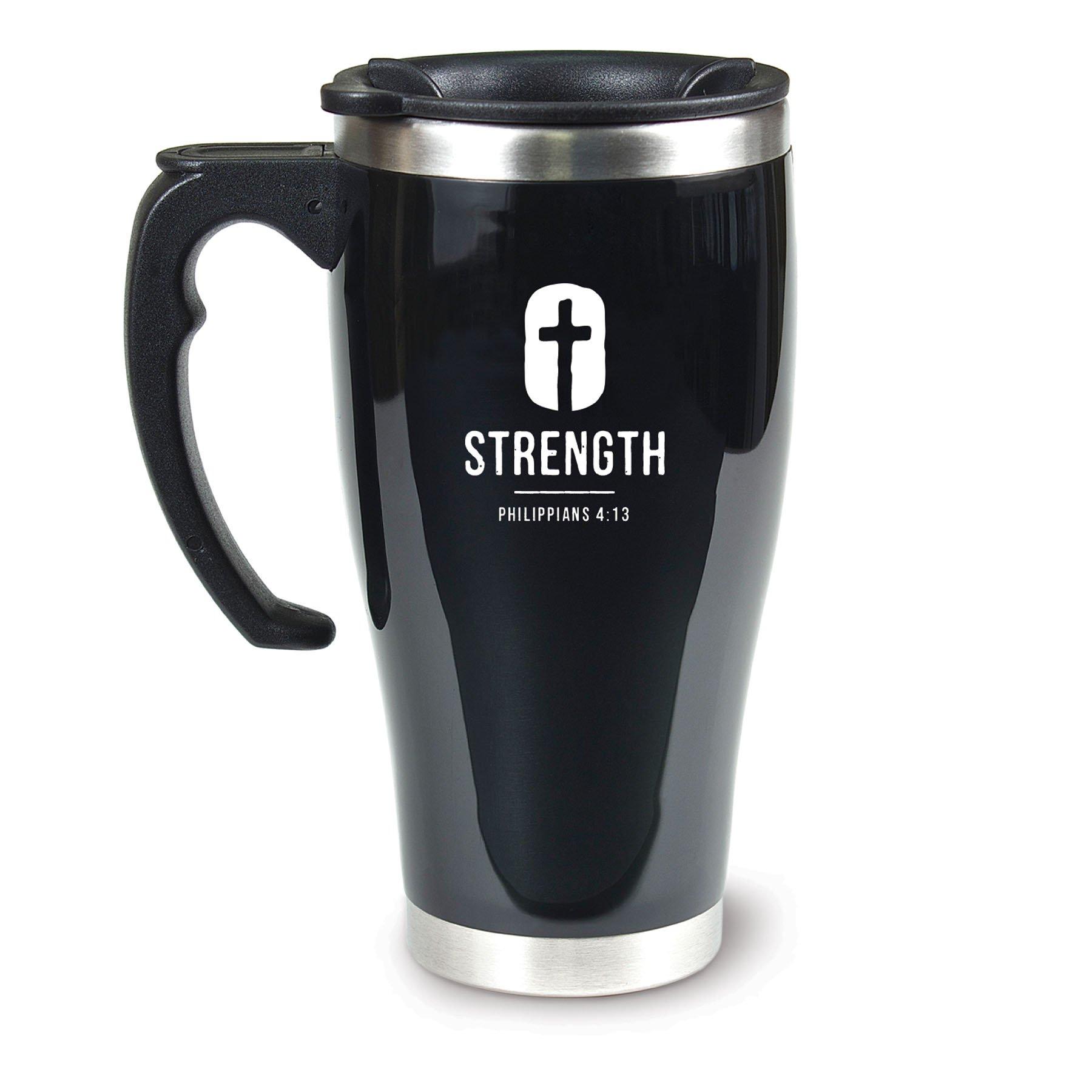 Lighthouse Christian Products Strength Acrylic/Stainless Steel Travel Mug, 18 oz