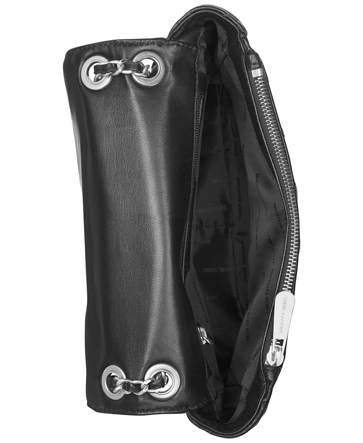5c4b5c8cb18a Amazon.com: MICHAEL Michael Kors Womens Cheyenne Leather Quilted Satchel  Handbag Black Small: Clothing