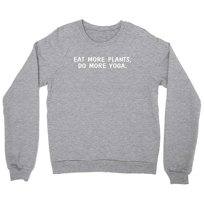 FUNKI SHOP Eat More Plants Do More Yoga Sweatshirt - Vegan ...