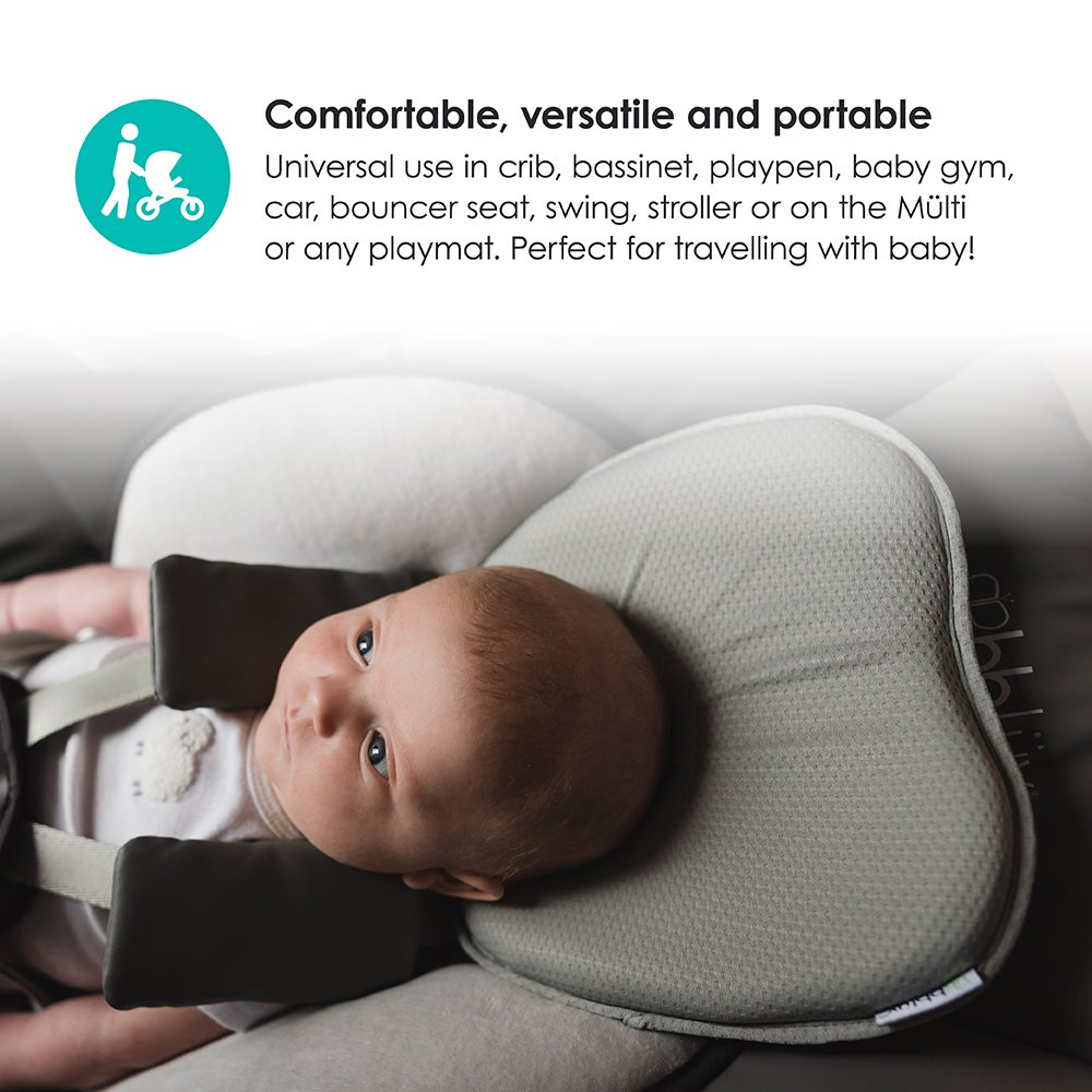 Breathable Baby and Infant Head-Shaping Pillow to Provide Neck Support and Prevent Flat Head Syndrome Ergonomic Headrest for Baby Pil/ö bbl/üv Pearl White Soft