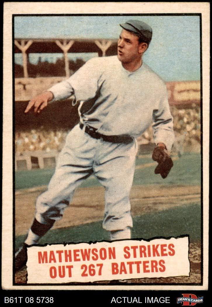 1961 Topps # 408 Baseball Thrills Christy Mathewson San Francisco Giants (Baseball Card) Dean's Cards 3 - VG Giants