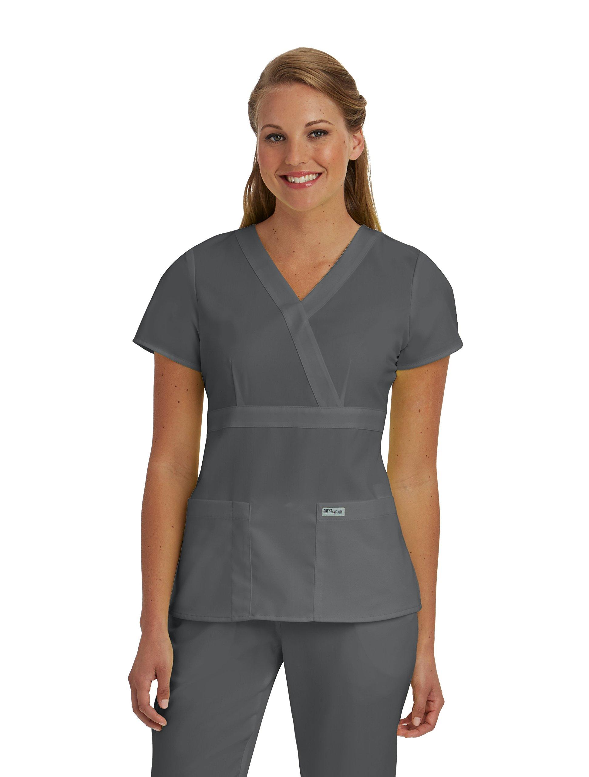 Grey's Anatomy 4153 Top (Pewter, 2X-Large)