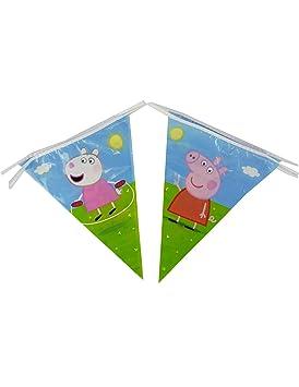COOLMP - Lote de 6 guirnaldas de banderines Peppa Pig 270 cm ...