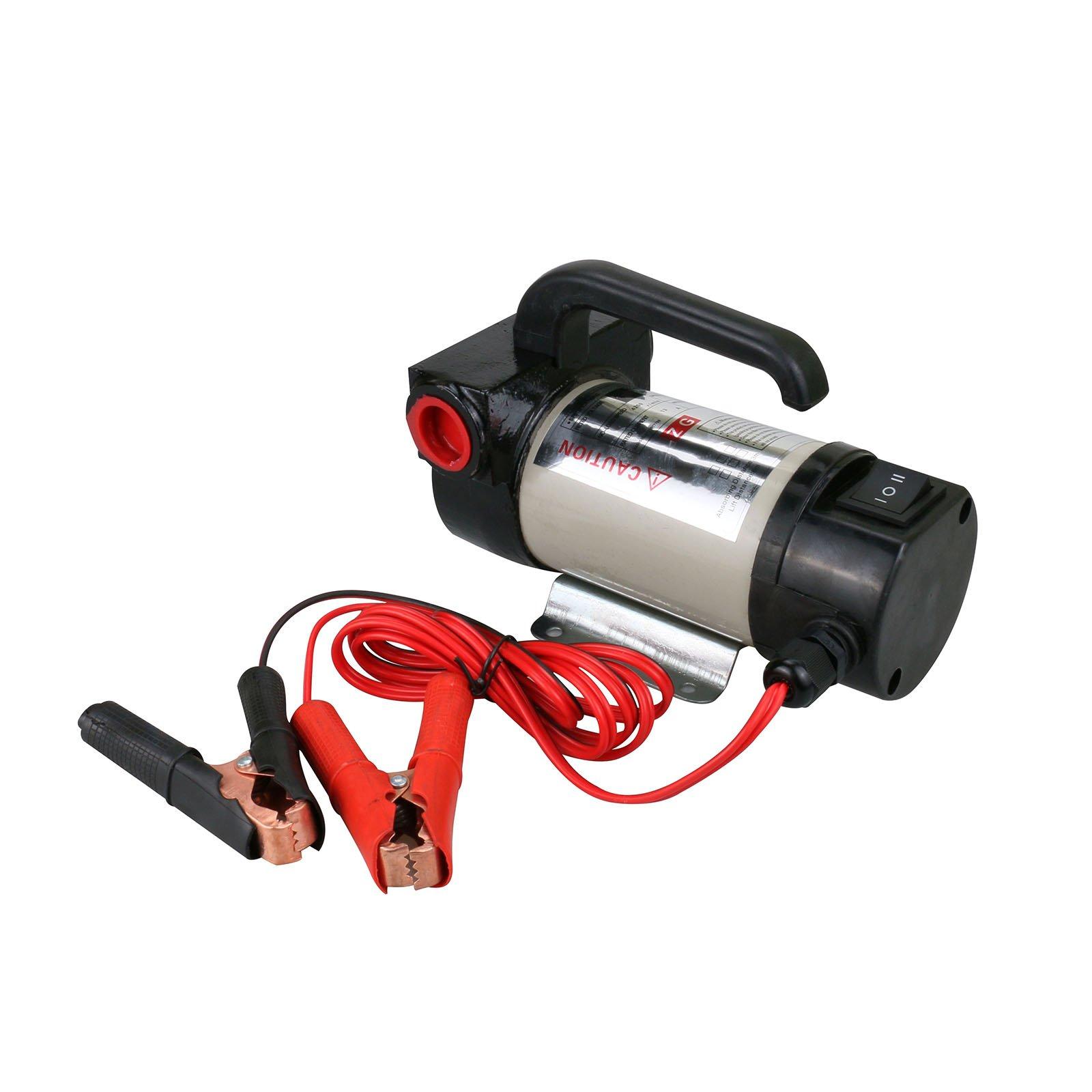 Diesel Oil Transfer Pump, Electric Tool Direct Current Pump Kit Alligator Clip 50L/min 24V DC