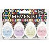 Tsukineko 4-Pack Assortment Memento Dew Drops Fade-Resistant Ink, Oh Baby