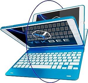 iPad Keyboard Case for iPad 2018 (6th Gen) - iPad 2017 (5th Gen) - iPad Pro 9.7 - iPad Air 2 & 1 - Thin & Light - 360 Rotatable - Wireless/BT - Backlit 10 Color - iPad Case with Keyboard (Green White)